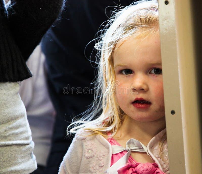 Menina inglesa pequena tímida fotografia de stock
