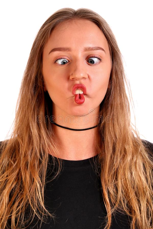 Menina insensata do adolescente imagens de stock
