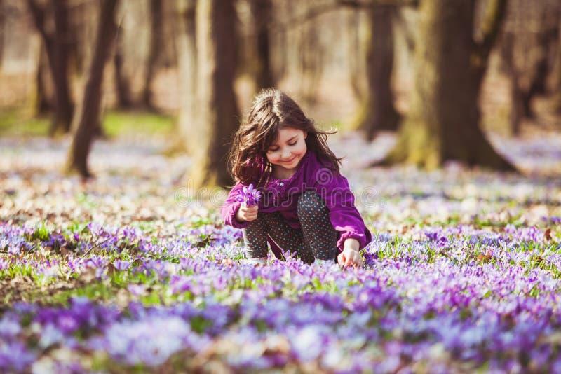 Menina inspirada por natureza fotografia de stock royalty free