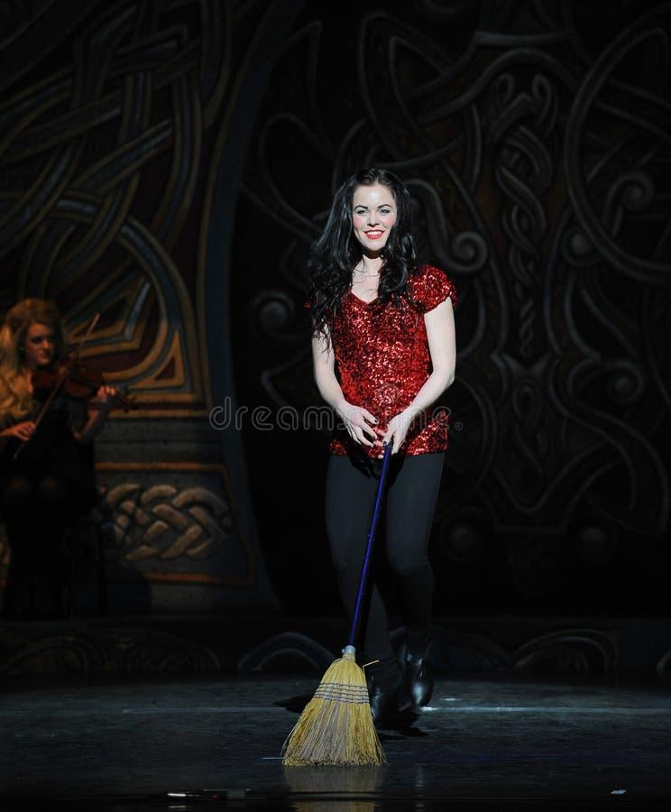 A menina irlandesa---A dança de torneira nacional irlandesa da dança imagem de stock royalty free