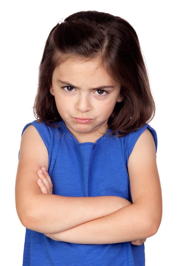 Menina irritada fotografia de stock royalty free