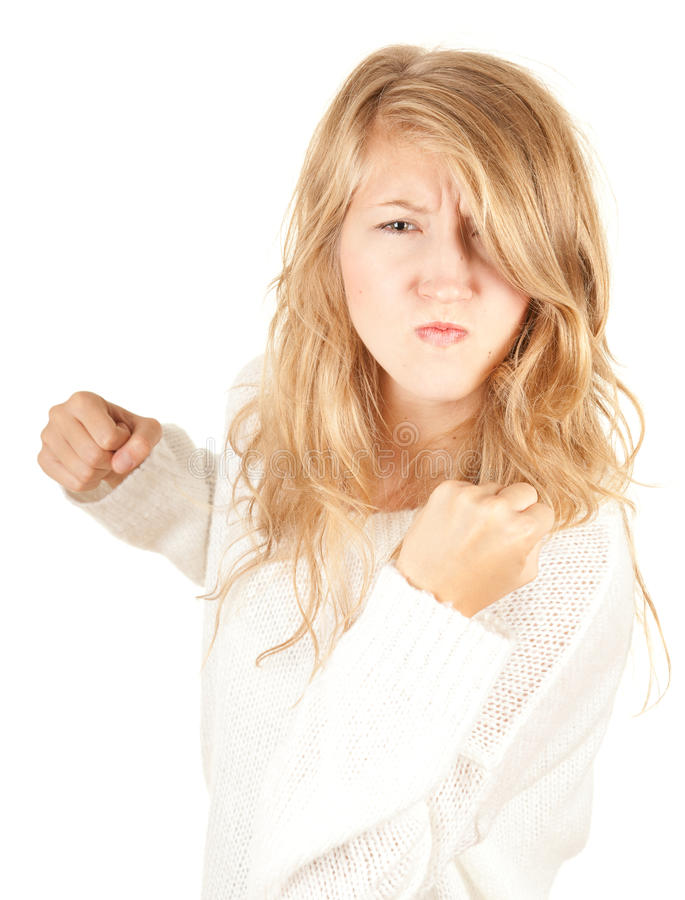 Menina irritada fotos de stock royalty free