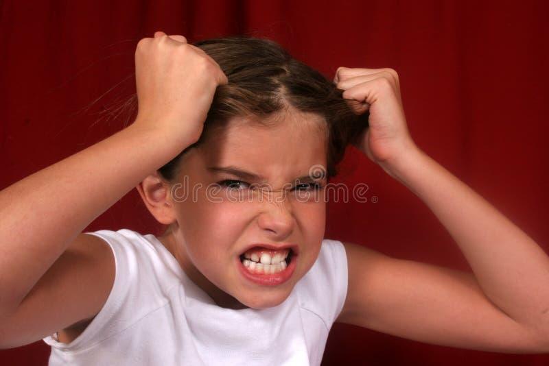 Menina irritada foto de stock royalty free
