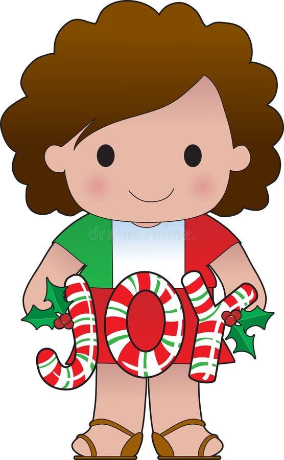 Menina italiana do Natal ilustração royalty free