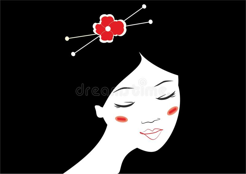 Menina japonesa imagens de stock royalty free
