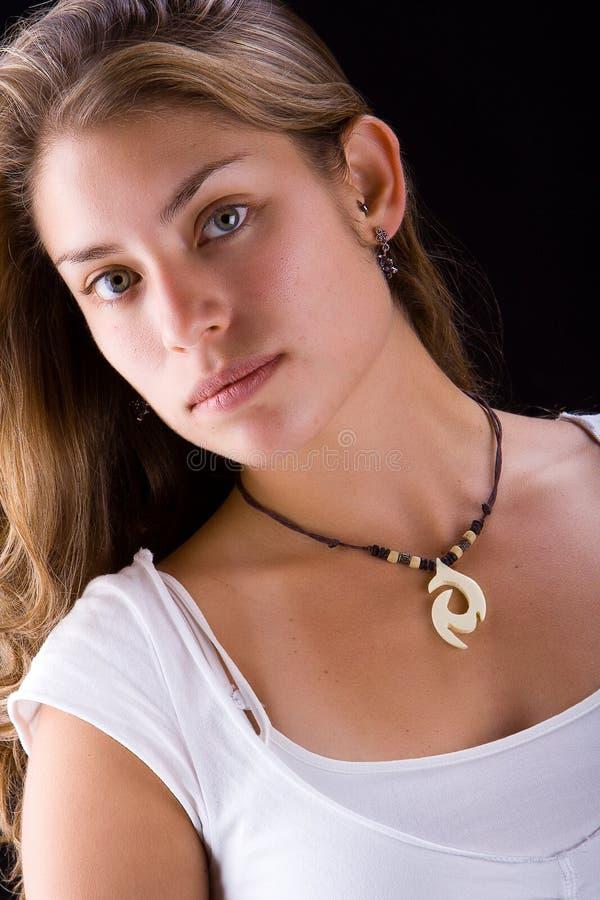 Menina latin bonita fotografia de stock