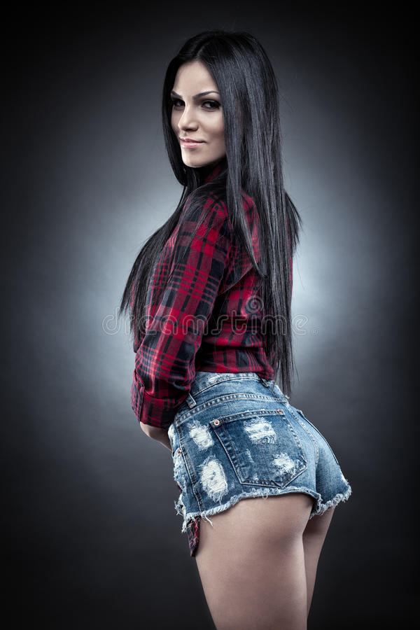 Menina latin 'sexy' imagem de stock