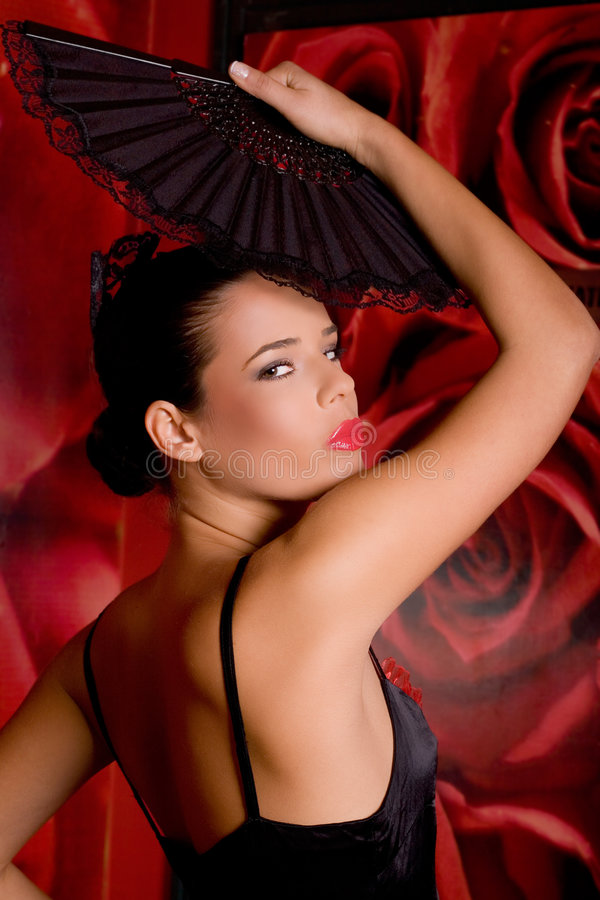 Menina latino-americano bonita fotografia de stock