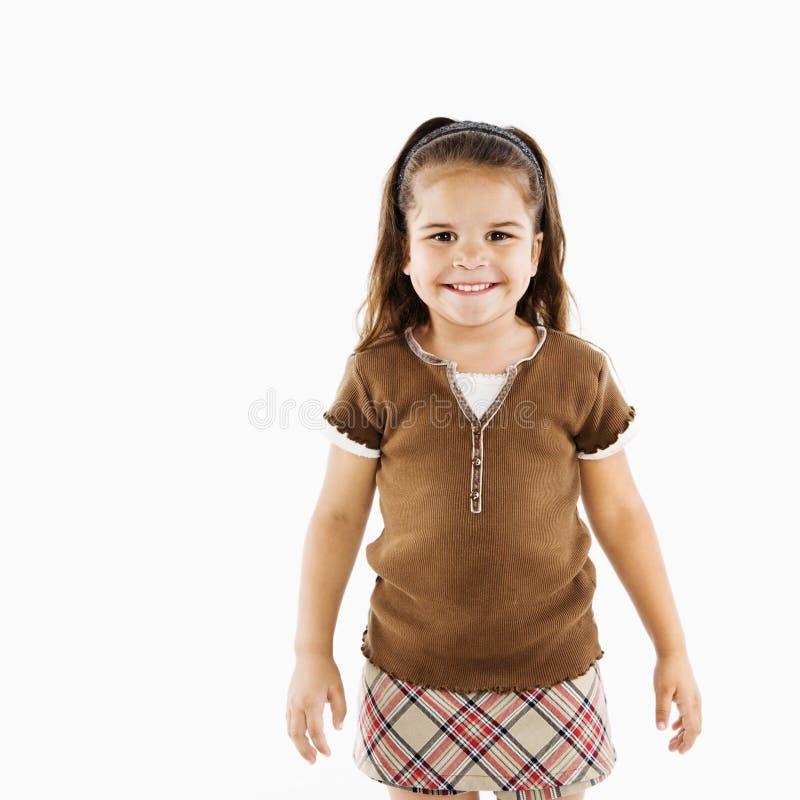 Menina latino-americano pequena bonito. fotos de stock royalty free