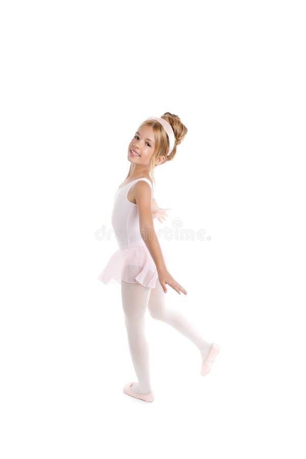 Menina loura da bailarina bonita foto de stock