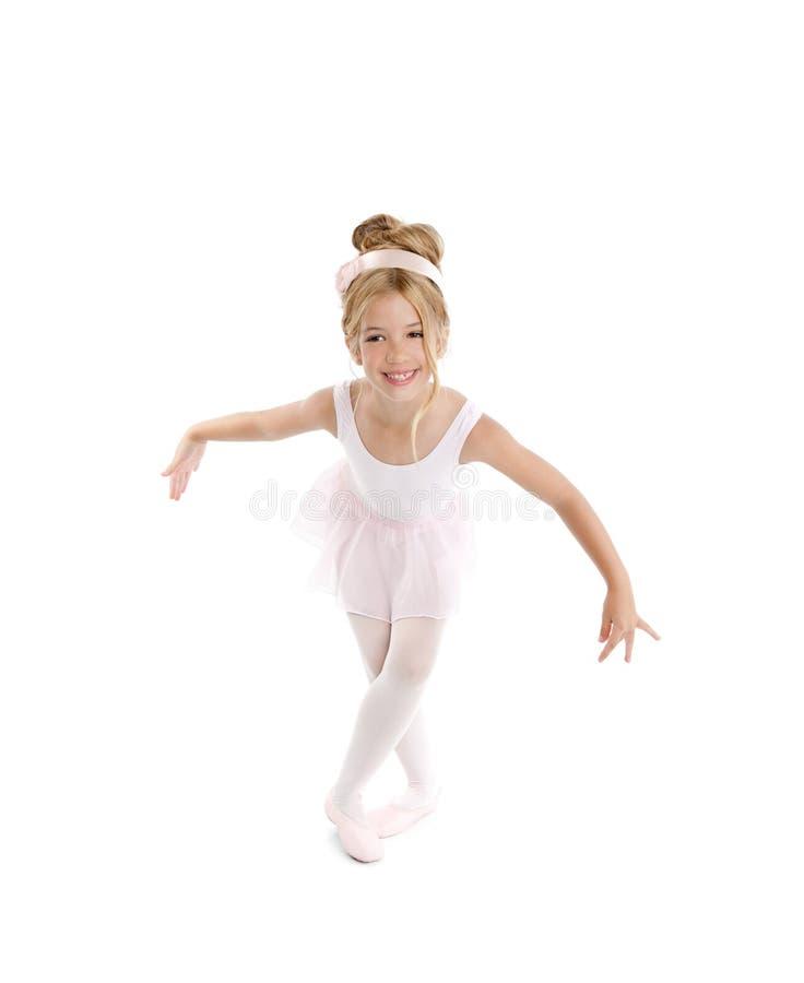 Menina loura da bailarina bonita fotos de stock
