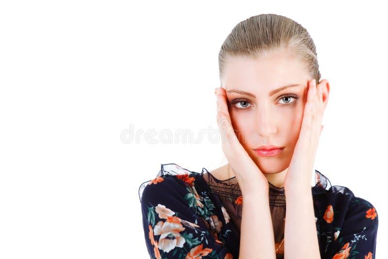 Menina loura nova adorável bonita imagem de stock royalty free
