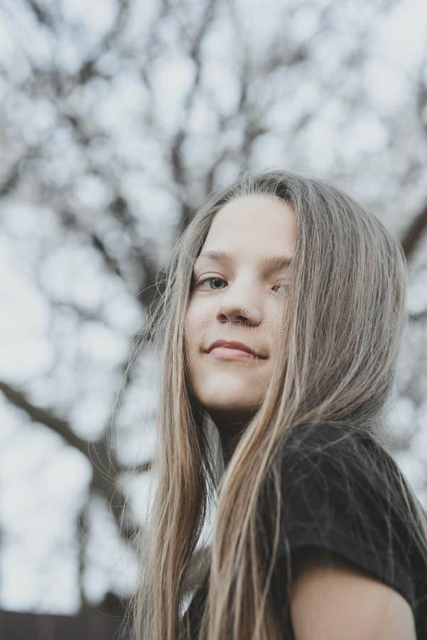 Menina luxúria do cabelo imagens de stock royalty free
