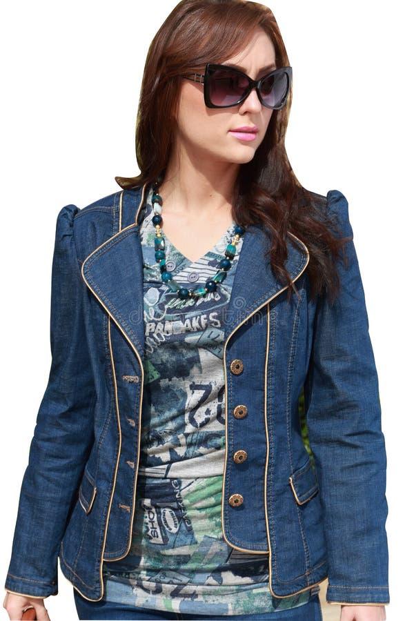 Menina luxuosa bonita com óculos de sol foto de stock