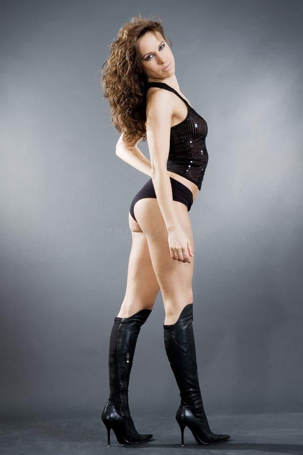 Menina magro do glamor fotos de stock royalty free