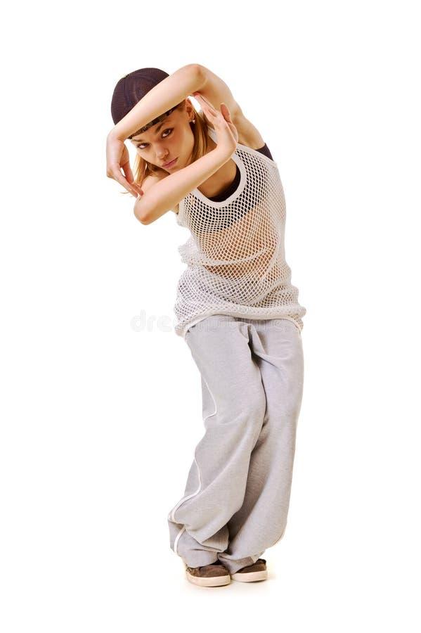 Menina magro do lúpulo do quadril na dança imagem de stock royalty free