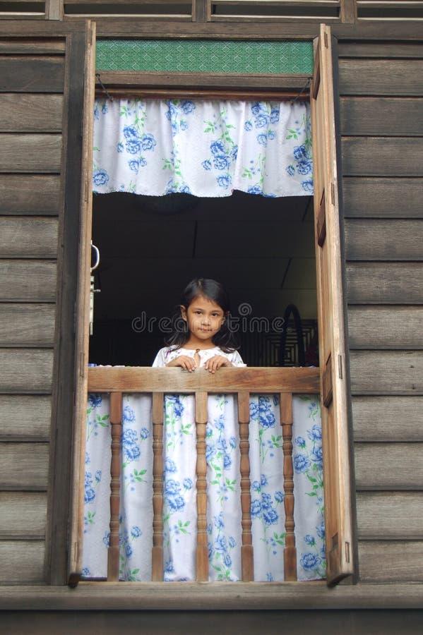 Menina malaia fotografia de stock royalty free