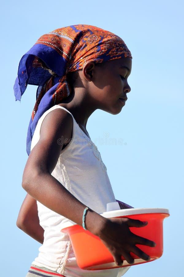 Menina malgaxe fotografia de stock