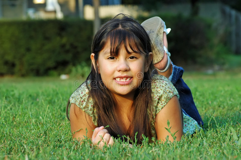 Menina Mexican-American imagem de stock royalty free
