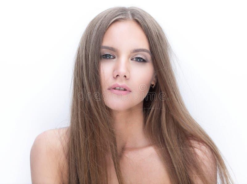 Menina modelo à moda que olha a câmera fotografia de stock