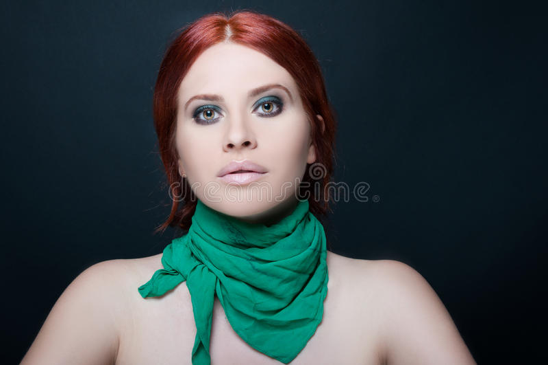 Menina modelo bonita com cara bonito imagem de stock royalty free