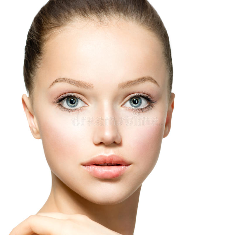 Menina modelo da beleza foto de stock royalty free