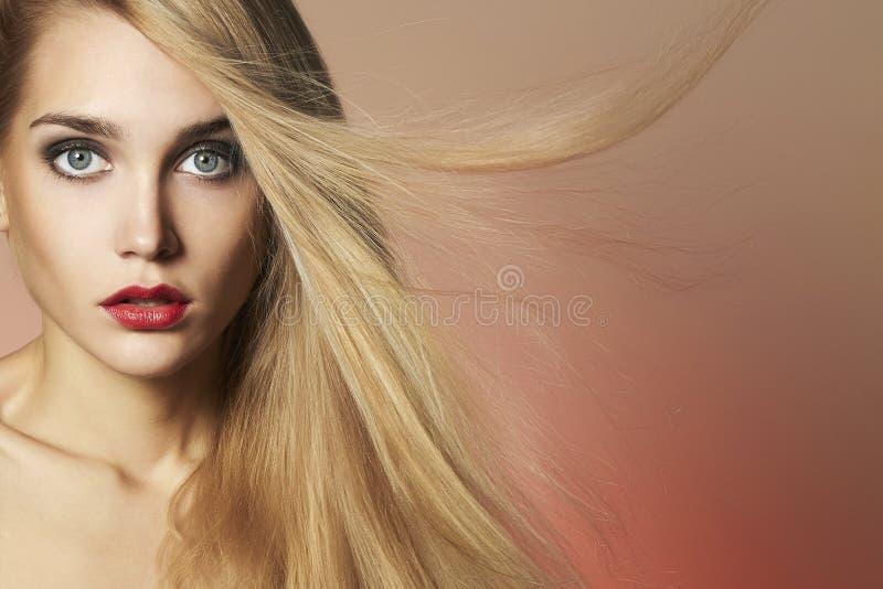 menina modelo da beleza com composição foto de stock royalty free