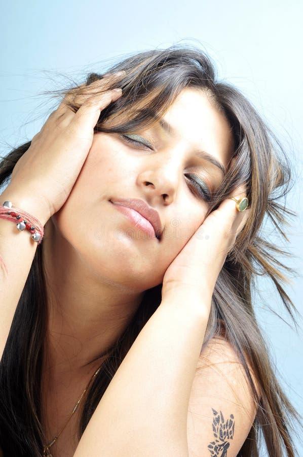 Menina modelo indiana fotos de stock