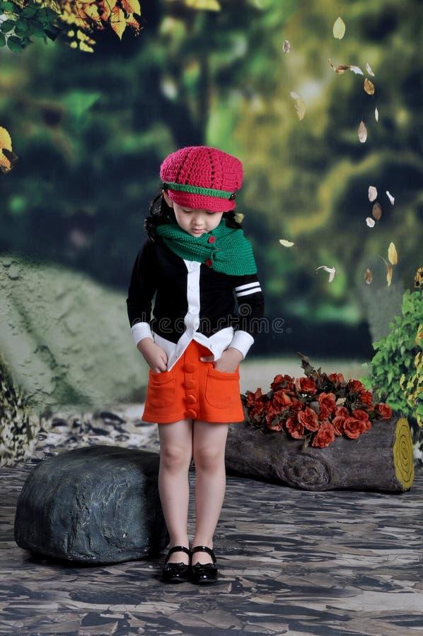 Menina moderna chinesa fotografia de stock royalty free