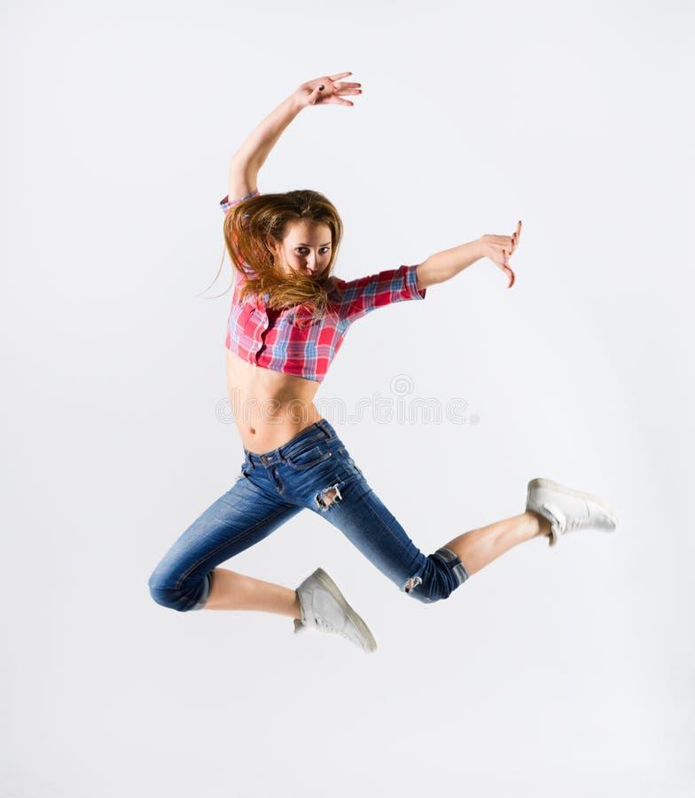 Menina moderna do dançarino fotografia de stock