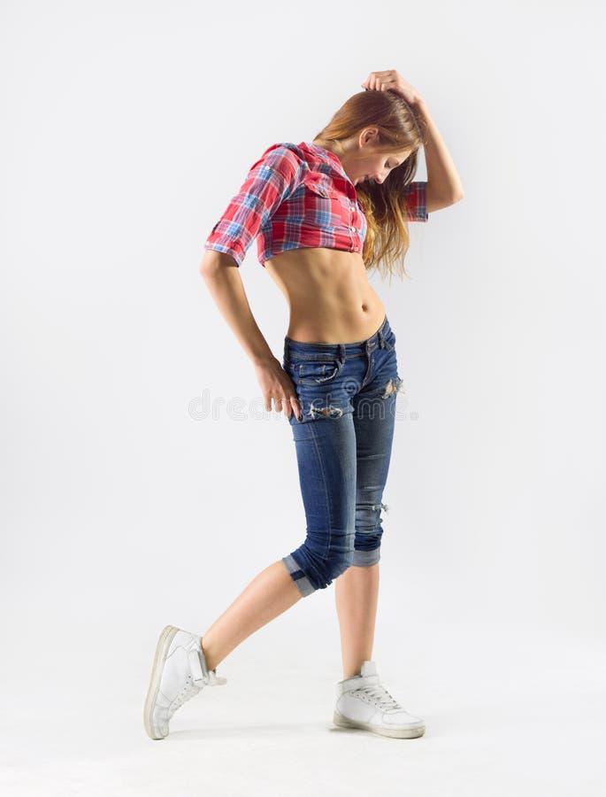Menina moderna do dançarino imagem de stock royalty free