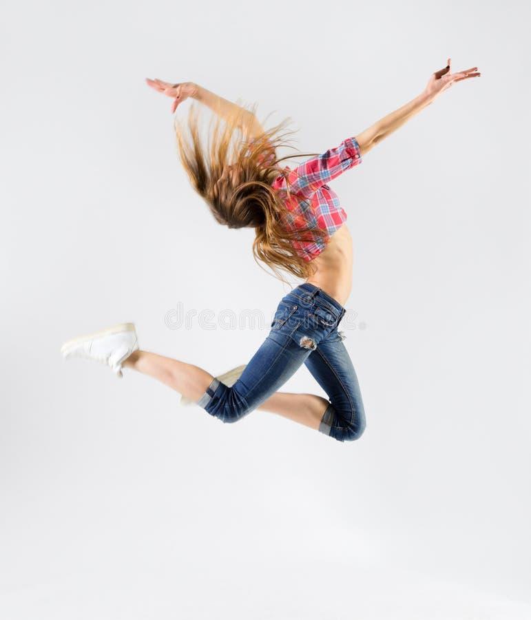 Menina moderna do dançarino imagens de stock royalty free