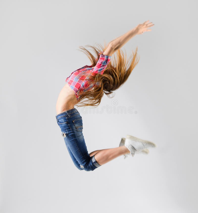 Menina moderna do dançarino imagem de stock