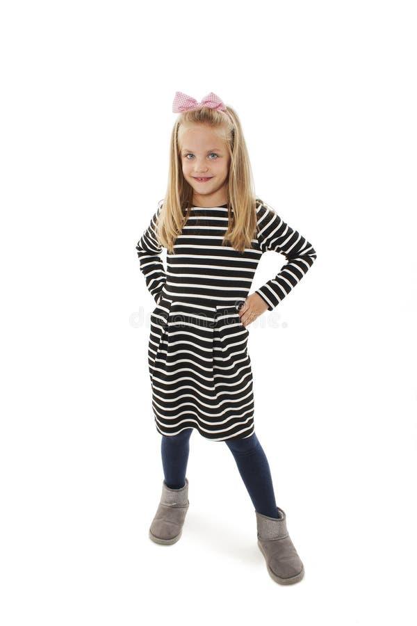 A menina moderna levanta para uma imagem fotos de stock royalty free
