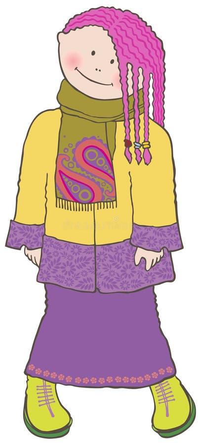 Menina modesta doce ilustração royalty free