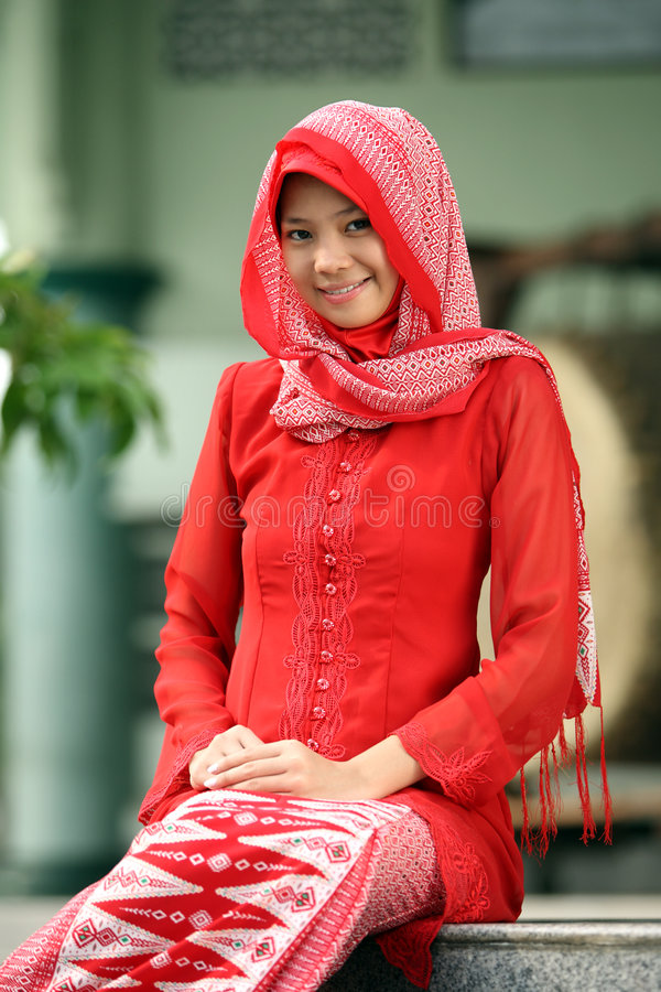 Menina muçulmana imagens de stock royalty free