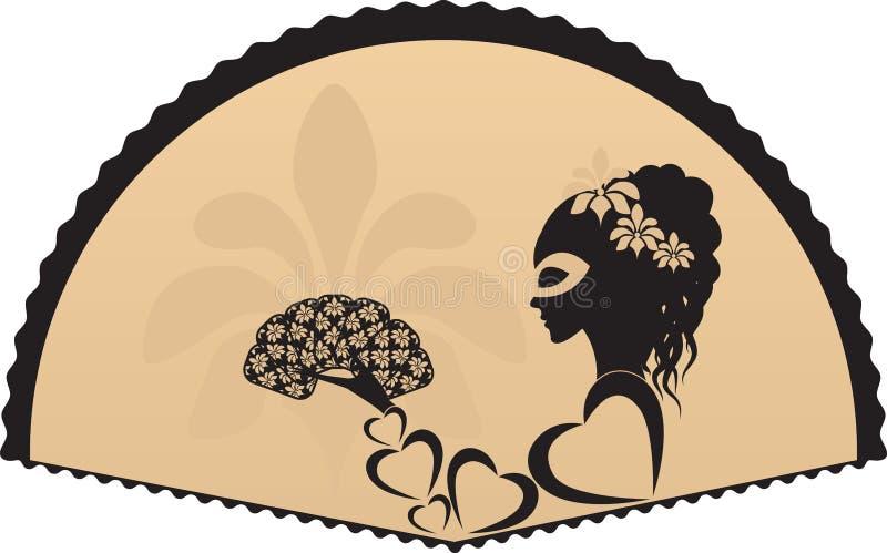 Menina/mulher ilustração do vetor