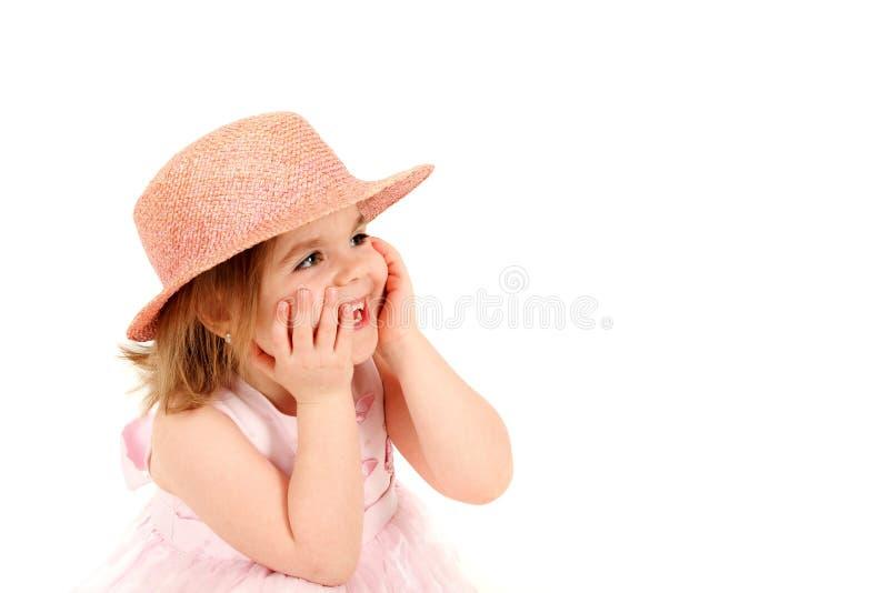Menina na cor-de-rosa imagem de stock