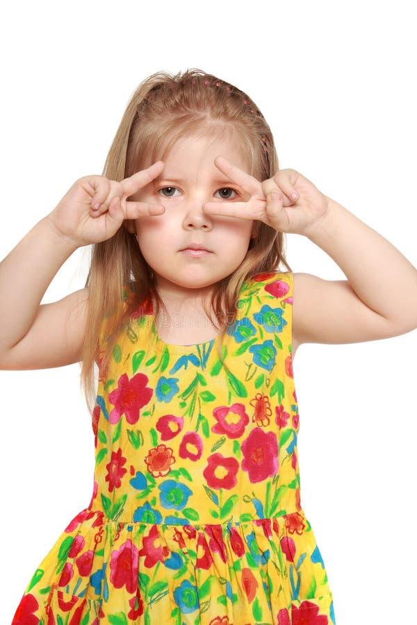 A menina na dança fotografia de stock