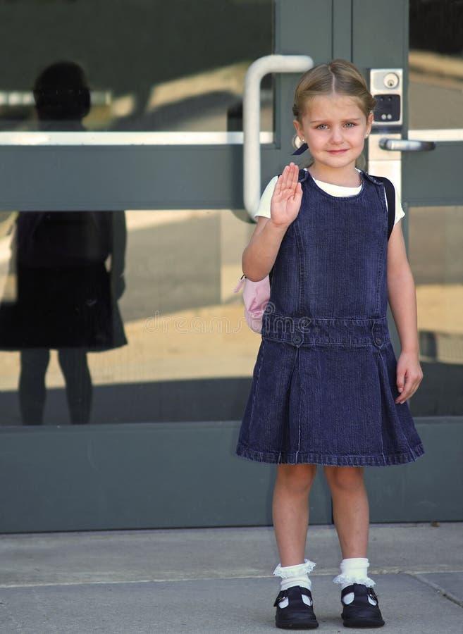 menina na escola fotografia de stock