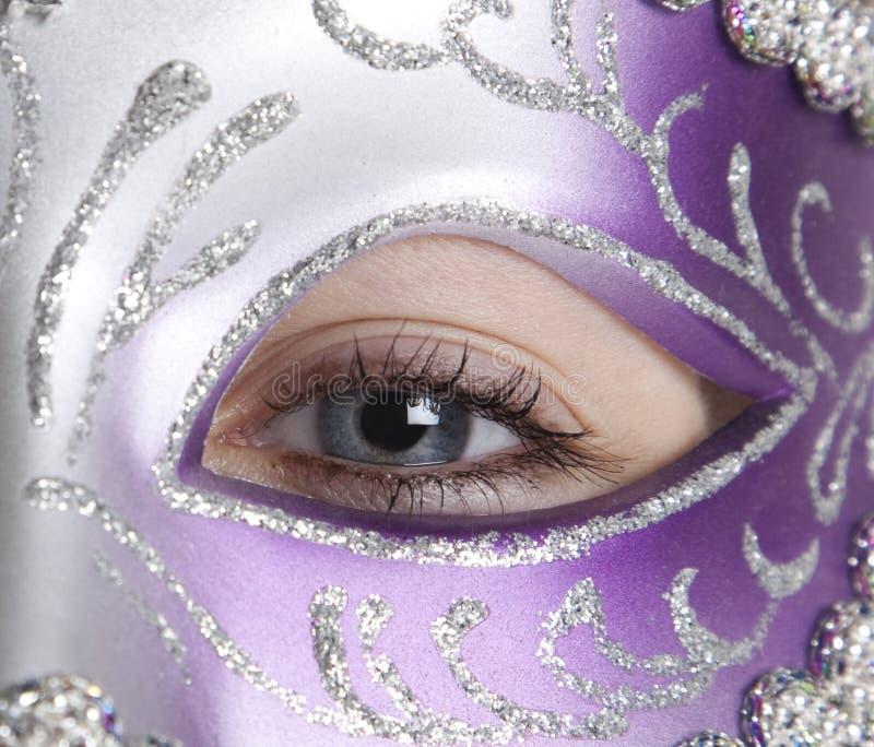 Menina na máscara fotografia de stock royalty free