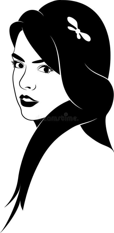 Menina na meia volta ilustração royalty free