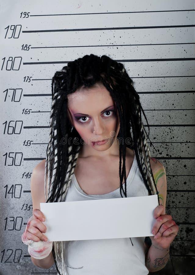 Menina na prisão fotos de stock