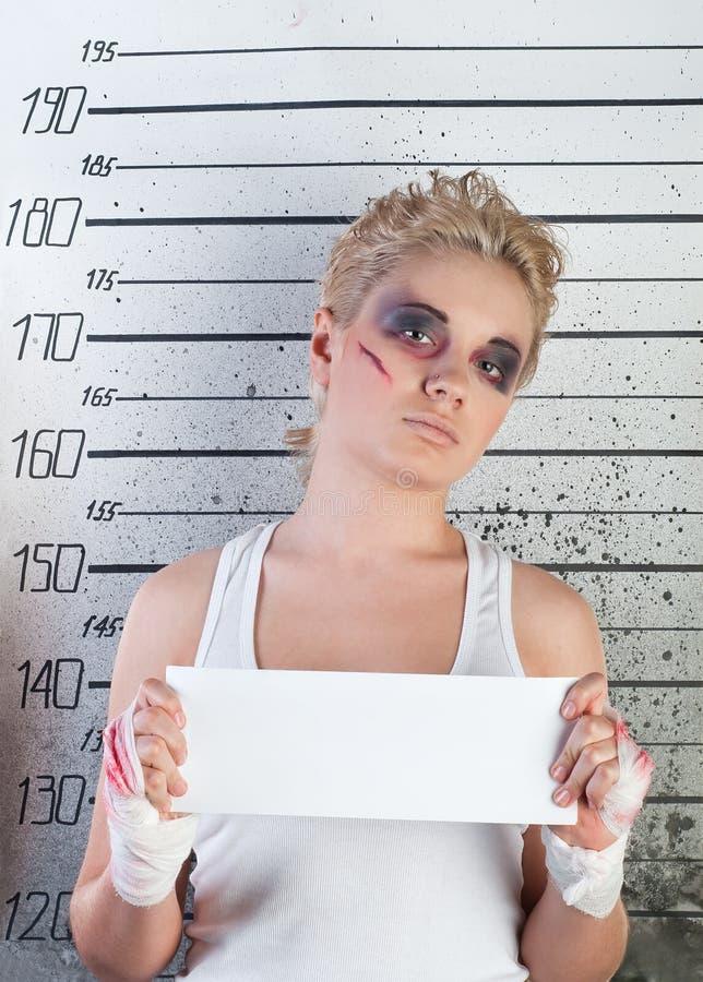 Menina na prisão imagem de stock royalty free