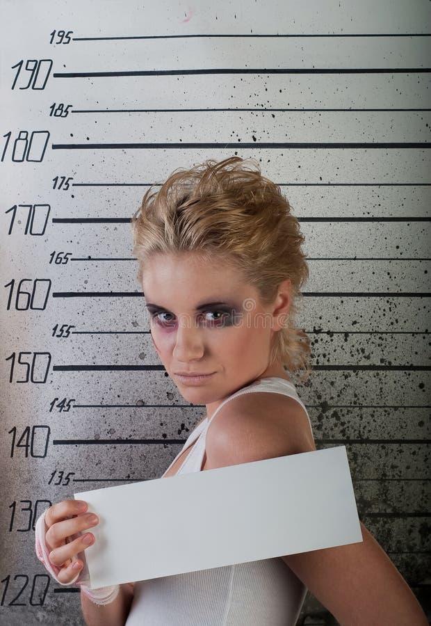 Menina na prisão. perfil imagem de stock