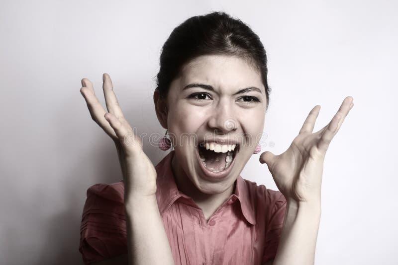 A menina na raiva. fotos de stock royalty free