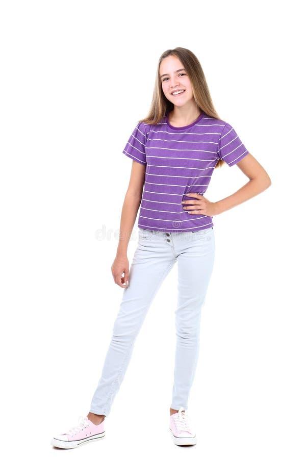 Menina na roupa da forma fotografia de stock