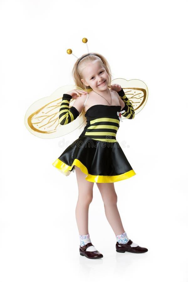 Menina na roupa do disfarce imagens de stock royalty free