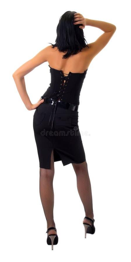 Menina na roupa escura imagens de stock