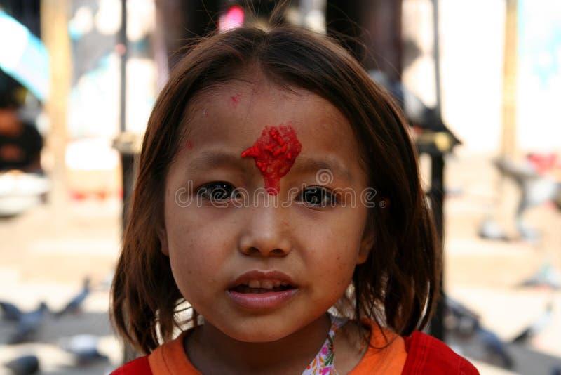 Menina nepalesa imagens de stock
